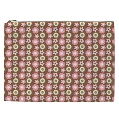 Cute Floral Pattern Cosmetic Bag (xxl)