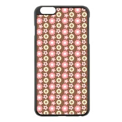Cute Floral Pattern Apple Iphone 6 Plus Black Enamel Case
