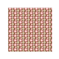 Cute Floral Pattern Small Satin Scarf (Square)