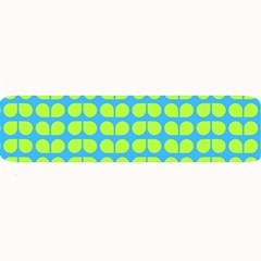 Blue Lime Leaf Pattern Large Bar Mats
