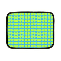 Blue Lime Leaf Pattern Netbook Case (small)
