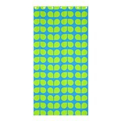 Blue Lime Leaf Pattern Shower Curtain 36  x 72  (Stall)
