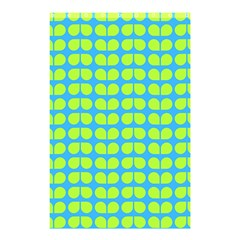 Blue Lime Leaf Pattern Shower Curtain 48  x 72  (Small)