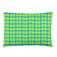 Blue Lime Leaf Pattern Pillow Cases (Two Sides)
