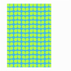 Blue Lime Leaf Pattern Small Garden Flag (Two Sides)