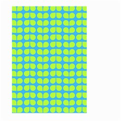 Blue Lime Leaf Pattern Large Garden Flag (Two Sides)