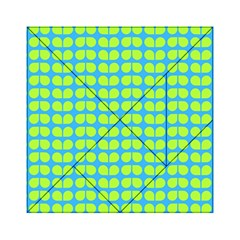 Blue Lime Leaf Pattern Acrylic Tangram Puzzle (6  X 6 )
