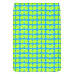 Blue Lime Leaf Pattern Flap Covers (l)