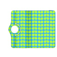 Blue Lime Leaf Pattern Kindle Fire Hdx 8 9  Flip 360 Case