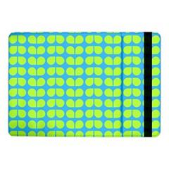 Blue Lime Leaf Pattern Samsung Galaxy Tab Pro 10 1  Flip Case