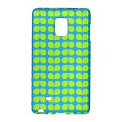 Blue Lime Leaf Pattern Galaxy Note Edge