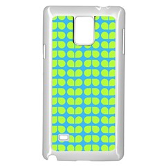 Blue Lime Leaf Pattern Samsung Galaxy Note 4 Case (white)