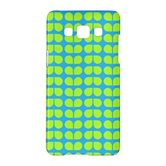 Blue Lime Leaf Pattern Samsung Galaxy A5 Hardshell Case