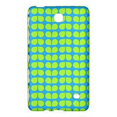 Blue Lime Leaf Pattern Samsung Galaxy Tab 4 (7 ) Hardshell Case