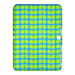 Blue Lime Leaf Pattern Samsung Galaxy Tab 4 (10.1 ) Hardshell Case