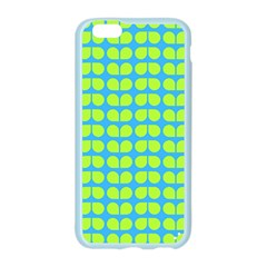 Blue Lime Leaf Pattern Apple Seamless iPhone 6 Case (Color)