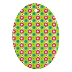 Cute Floral Pattern Ornament (oval)