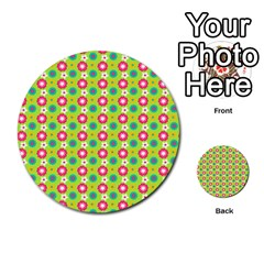 Cute Floral Pattern Multi-purpose Cards (Round)
