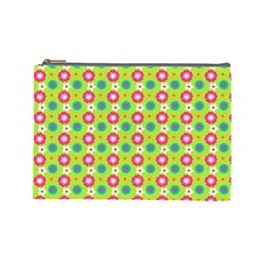 Cute Floral Pattern Cosmetic Bag (large)