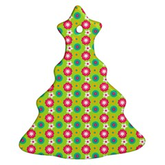 Cute Floral Pattern Ornament (christmas Tree)