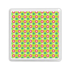 Cute Floral Pattern Memory Card Reader (Square)