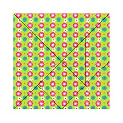 Cute Floral Pattern Acrylic Tangram Puzzle (6  x 6 )