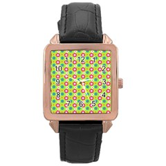 Cute Floral Pattern Rose Gold Watches