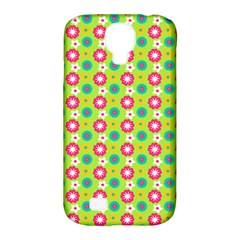 Cute Floral Pattern Samsung Galaxy S4 Classic Hardshell Case (pc+silicone)