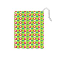 Cute Floral Pattern Drawstring Pouches (medium)