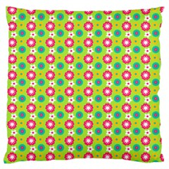 Cute Floral Pattern Large Flano Cushion Cases (One Side)