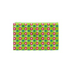 Cute Floral Pattern Cosmetic Bag (XS)
