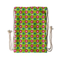 Cute Floral Pattern Drawstring Bag (Small)