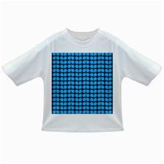 Blue Gray Leaf Pattern Infant/Toddler T-Shirts