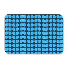 Blue Gray Leaf Pattern Plate Mats