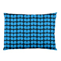 Blue Gray Leaf Pattern Pillow Cases