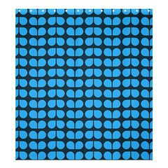 Blue Gray Leaf Pattern Shower Curtain 66  X 72  (large)
