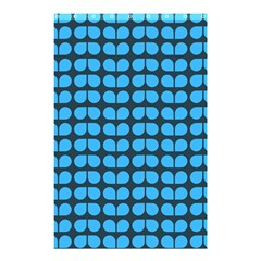 Blue Gray Leaf Pattern Shower Curtain 48  X 72  (small)