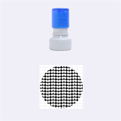 Blue Gray Leaf Pattern Rubber Round Stamps (small)