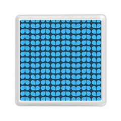 Blue Gray Leaf Pattern Memory Card Reader (Square)