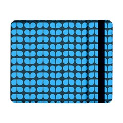 Blue Gray Leaf Pattern Samsung Galaxy Tab Pro 8 4  Flip Case