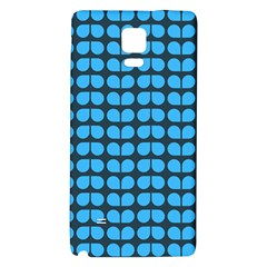 Blue Gray Leaf Pattern Galaxy Note 4 Back Case