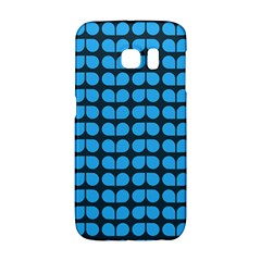 Blue Gray Leaf Pattern Galaxy S6 Edge