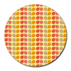 Colorful Leaf Pattern Round Mousepads
