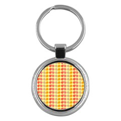 Colorful Leaf Pattern Key Chains (round)