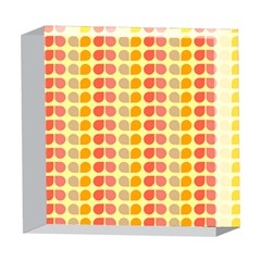Colorful Leaf Pattern 5  x 5  Acrylic Photo Blocks