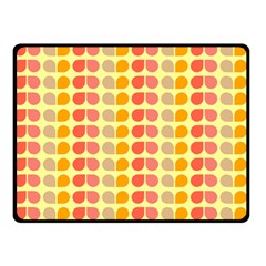 Colorful Leaf Pattern Double Sided Fleece Blanket (Small)