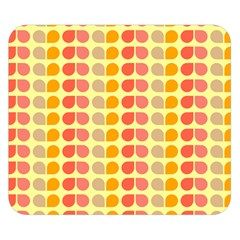 Colorful Leaf Pattern Double Sided Flano Blanket (small)