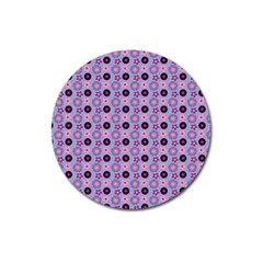 Cute Floral Pattern Magnet 3  (round)