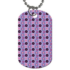 Cute Floral Pattern Dog Tag (one Side)