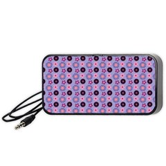 Cute Floral Pattern Portable Speaker (Black)